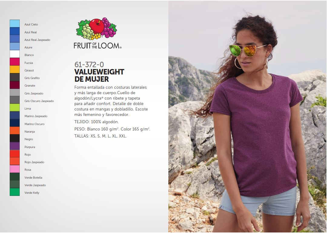 Fidelizar camisetas fruit Mujer