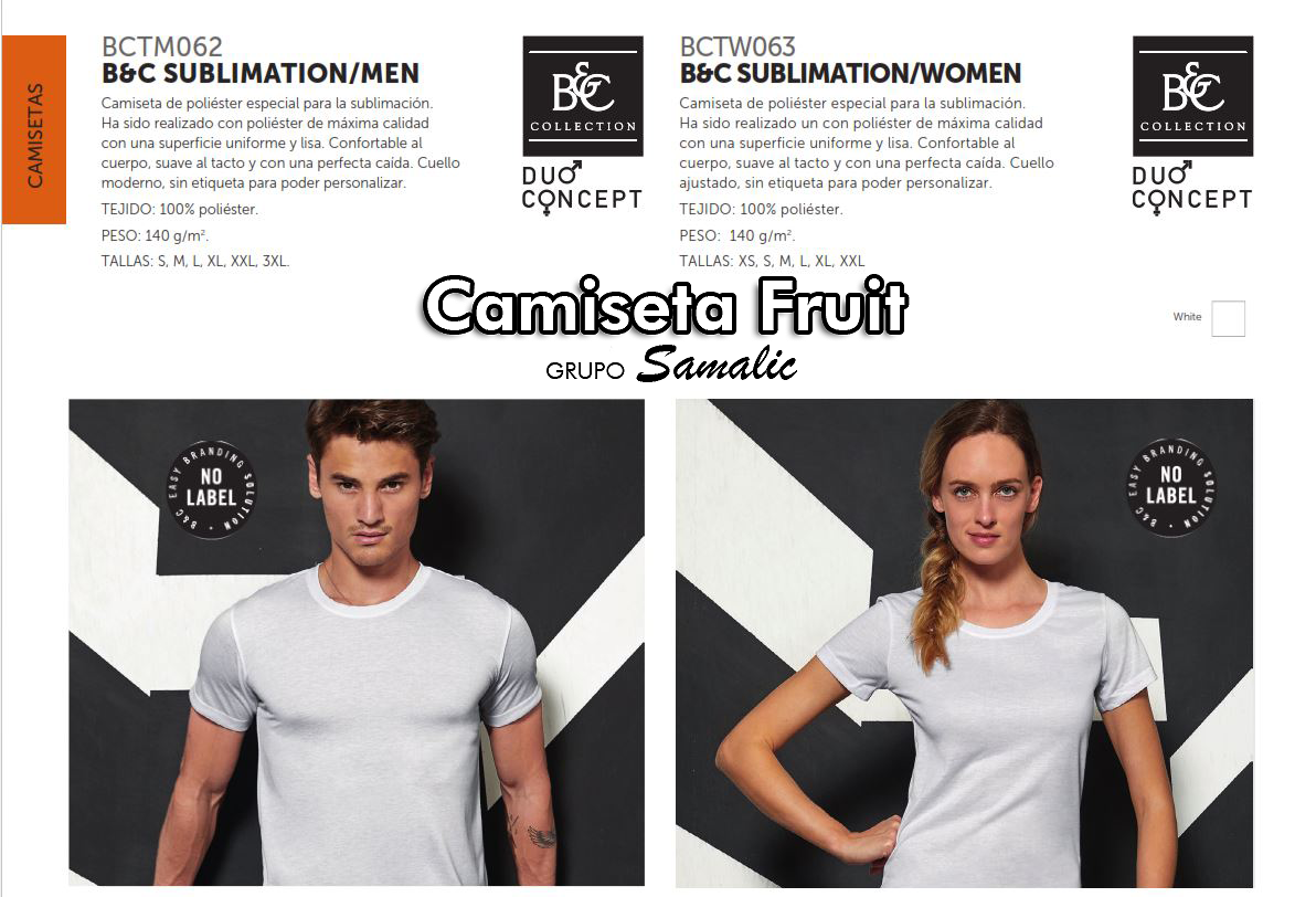 Sublimacion, Camisetas Fruit