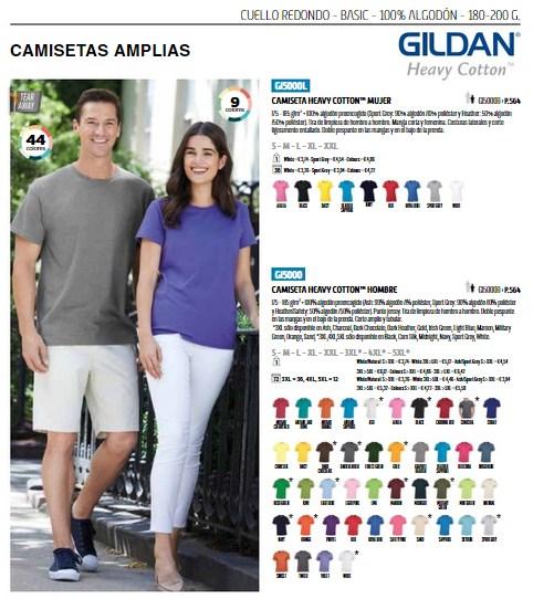 Marca Gildan camisetas personalizadas